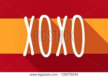 Long Shadow Spain Flag With    The Text Xoxo
