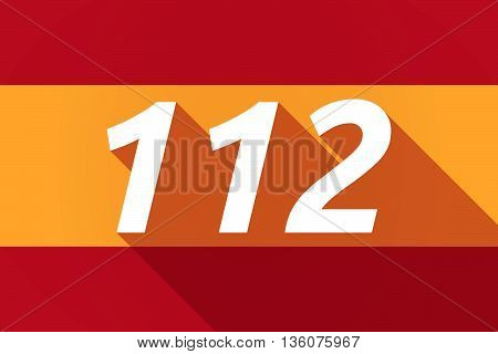 Long Shadow Spain Flag With    The Text 112