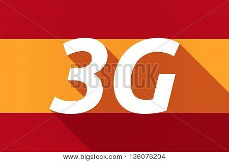 Long Shadow Spain Flag With    The Text 3G