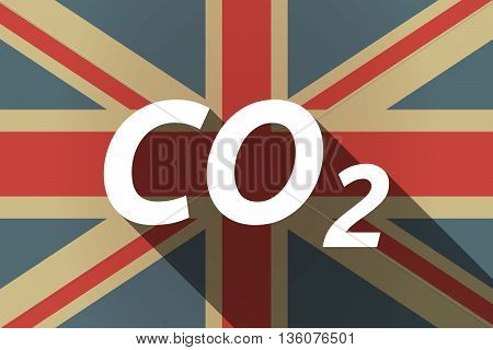 Long Shadow Uk Flag With    The Text Co2