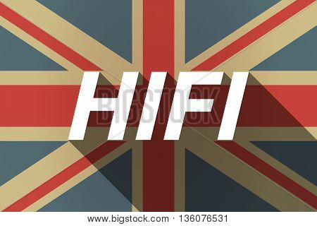 Long Shadow Uk Flag With    The Text Hifi