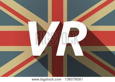 Long Shadow Uk Flag With    The Virtual Reality Acronym Vr