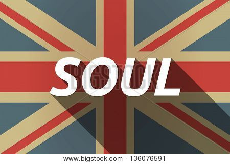 Long Shadow Uk Flag With    The Text Soul