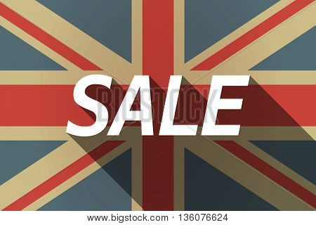 Long Shadow Uk Flag With    The Text Sale