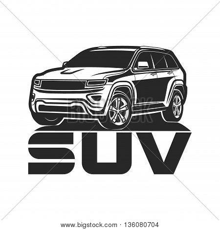 suv Icon design car crossover vector illustration