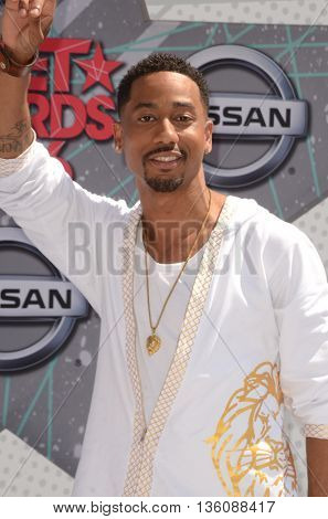LOS ANGELES - JUN 26:  Brandon T. Jackson at the BET Awards Arrivals at the Microsoft Theater on June 26, 2016 in Los Angeles, CA