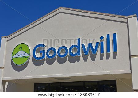 Indianapolis - Circa June 2016: A Goodwill Store. In 2015 Goodwill helped more than 26.4 million people train for careers