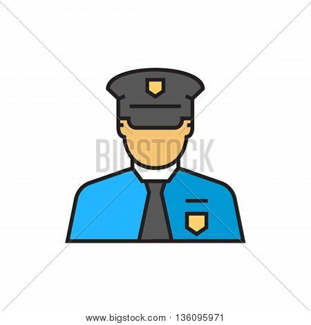 Border control service officer. Border service agency, international travel, border service. Airport concept. Can be used for topics like airport, international travel, work