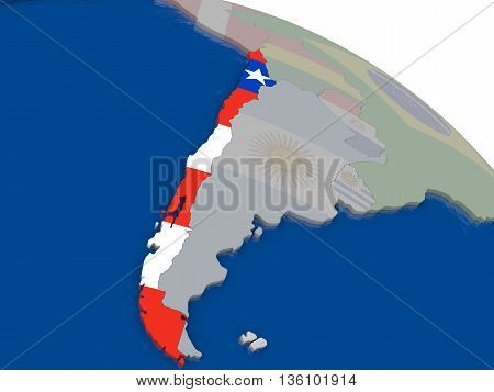 Chile With Flag