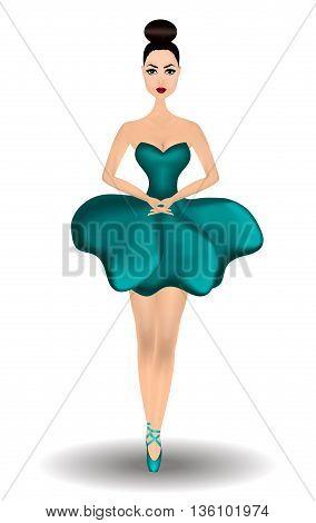 Ballerina on a white background. Vector illustration eps 10