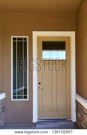 Front Entry Door New Home Construction