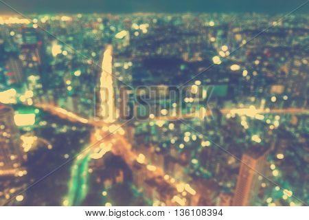 Aerial Blurred Urban Background Scene
