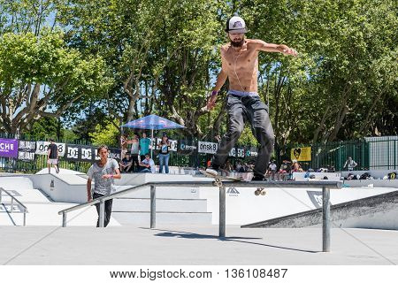 Joao Gomes During The Dc Skate Challenge
