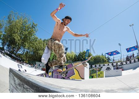 Tiago Xarepe During The Dc Skate Challenge