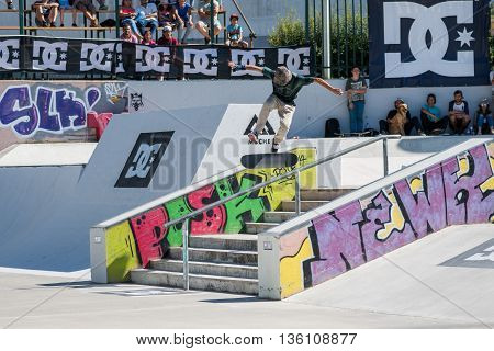 Tiago Lopes During The Dc Skate Challenge