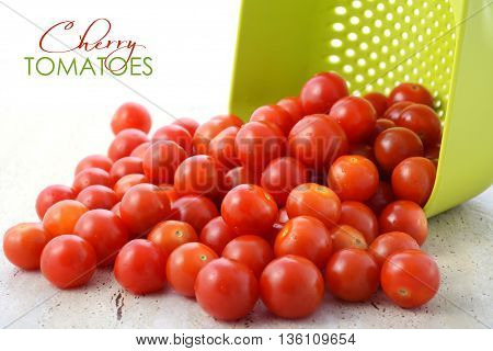 Cherry Tomatoes With Colander
