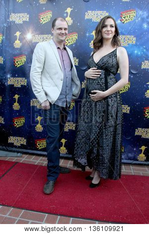 Kate Siegel and guest arrive at the 42nd Annual Saturn Awards on Wednesday, June 22, 2016 at the Castaway Restaurant in Burbank, CA.