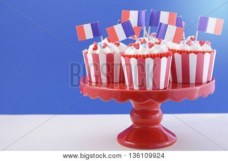 Happy Bastille Day Cupcakes.