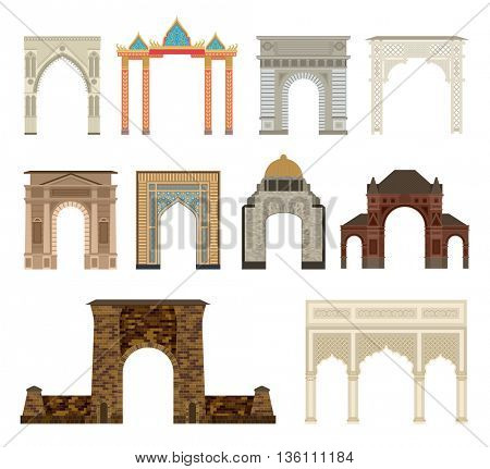 Arch vector set illustration