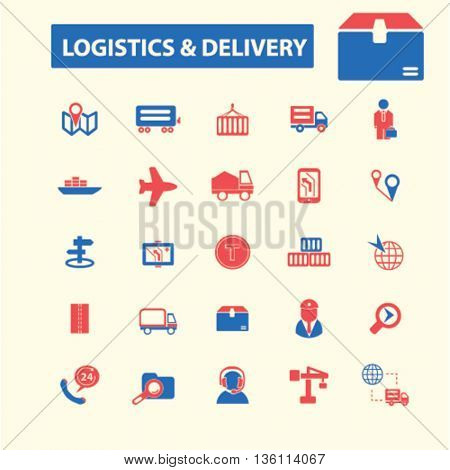 logistics, delivery icons