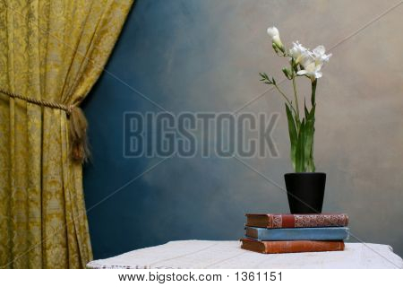Freesias With Curtain