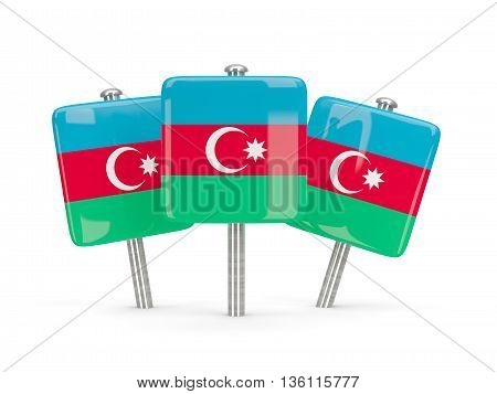 Flag Of Azerbaijan, Three Square Pins