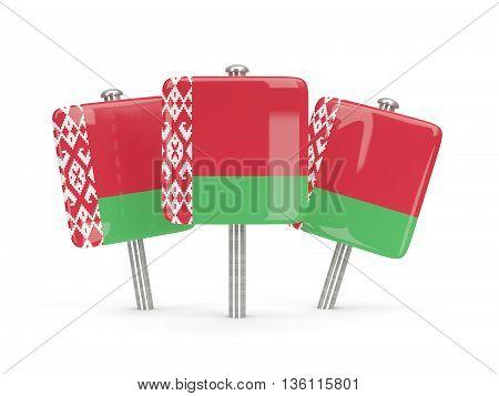 Flag Of Belarus, Three Square Pins