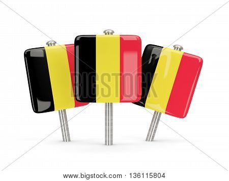 Flag Of Belgium, Three Square Pins