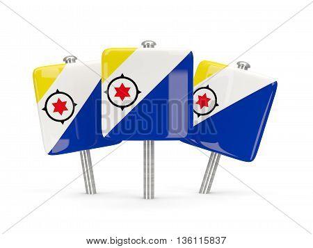 Flag Of Bonaire, Three Square Pins