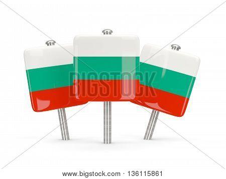 Flag Of Bulgaria, Three Square Pins