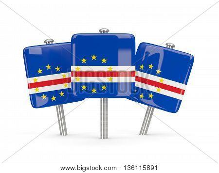 Flag Of Cape Verde, Three Square Pins