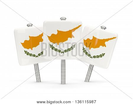 Flag Of Cyprus, Three Square Pins
