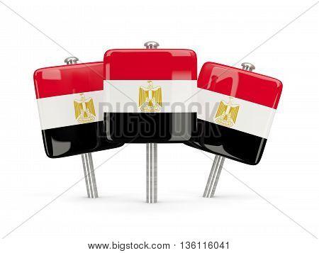 Flag Of Egypt, Three Square Pins