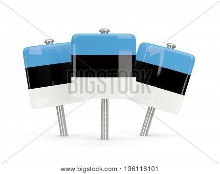 Flag Of Estonia, Three Square Pins