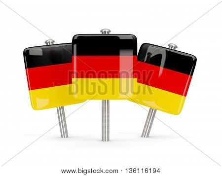 Flag Of Germany, Three Square Pins