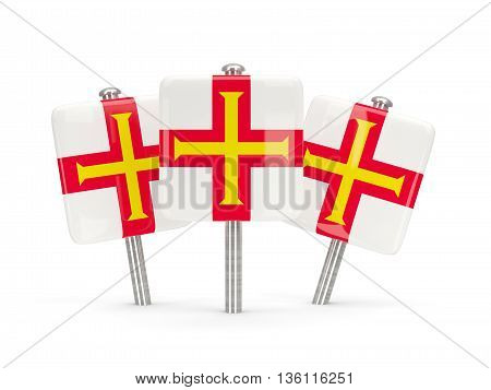 Flag Of Guernsey, Three Square Pins