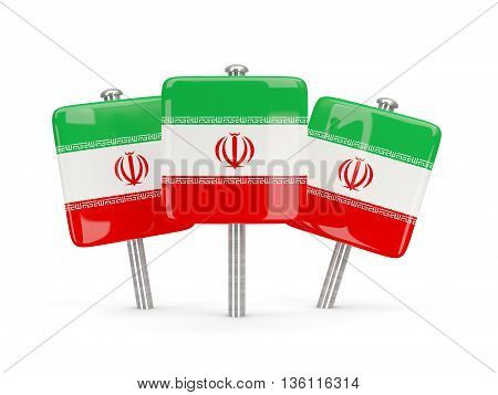 Flag Of Iran, Three Square Pins