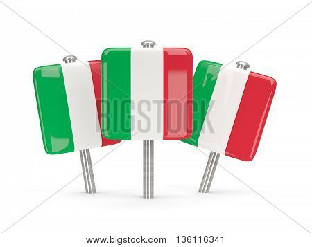 Flag Of Italy, Three Square Pins