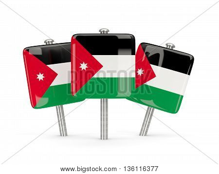 Flag Of Jordan, Three Square Pins