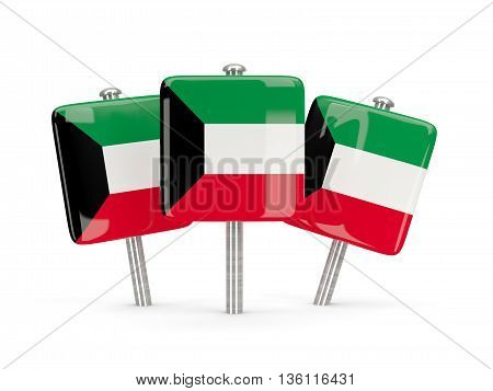 Flag Of Kuwait, Three Square Pins