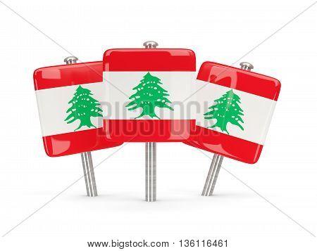 Flag Of Lebanon, Three Square Pins