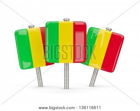 Flag Of Mali, Three Square Pins