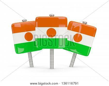 Flag Of Niger, Three Square Pins