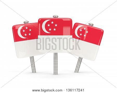 Flag Of Singapore, Three Square Pins