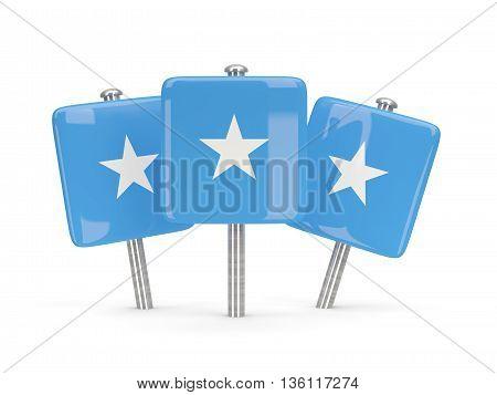 Flag Of Somalia, Three Square Pins