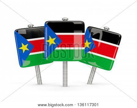 Flag Of South Sudan, Three Square Pins