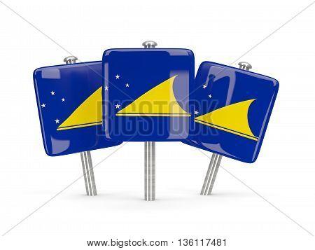 Flag Of Tokelau, Three Square Pins