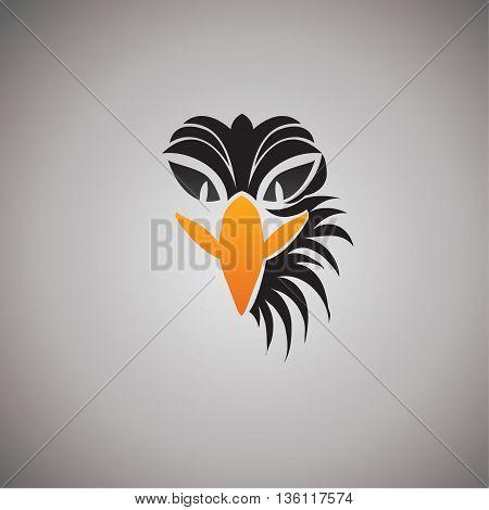 eagle logo ideas vector design on background