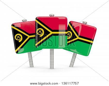 Flag Of Vanuatu, Three Square Pins