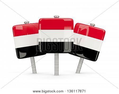 Flag Of Yemen, Three Square Pins